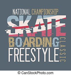 Camiseta de campeonato de patinaje