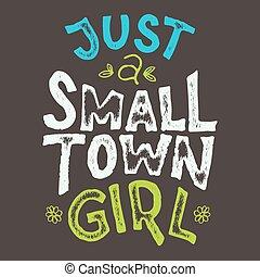 Camiseta de chica de pueblo