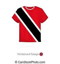 camiseta, diseño, trinidad, tobago., bandera
