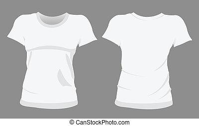 camiseta, plantillas, mujer, diseño