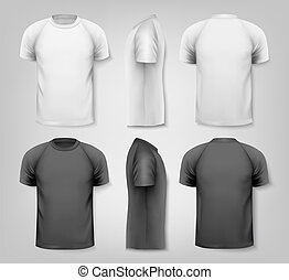 Camisetas masculinas coloridas. Diseño de plantilla. Vector