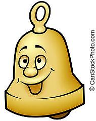 campana de cobre amarillo