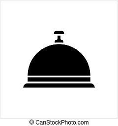 campana, recepción del hotel, campana, icono