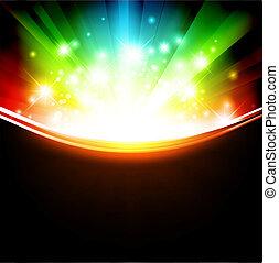 Campanas multicolores con estrellas brillantes