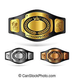 campeón, cinturón