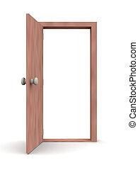 campeonato abierto de puerta, caricatura, -