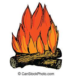 campfire, ilustración