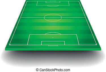 Campo de fútbol con perspectiva