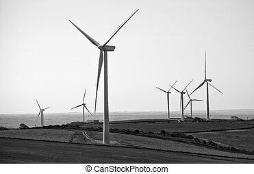 Campo de turbinas eólicas en BW