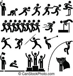 Campo deportivo y juego atlético
