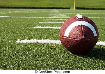 campo, fútbol americano, primer plano