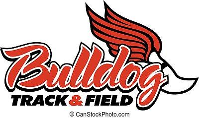 campo, y, pista, bulldog