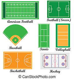 Campos para juegos deportivos.
