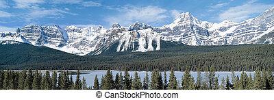 canadá, montañas, colombia, rocoso, británico, vista panorámica