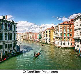 canal, venecia, italia, magnífico