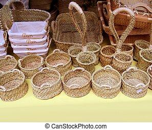Canastos de Basketry de España enea esparto