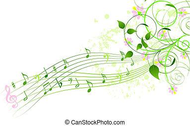 canción, primavera, plano de fondo