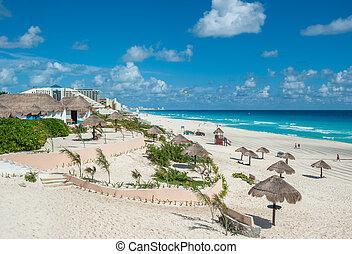 cancun, méxico, panorama, playa