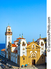 candelaria, canario, españa, tenerife, de, hermoso, basílica, islas, iglesia