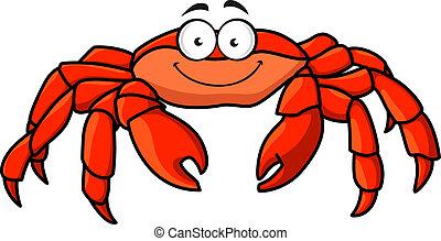Cangrejo marino rojo cartón
