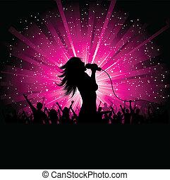 cantante, hembra
