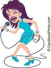 cantante, hembra, taponazo