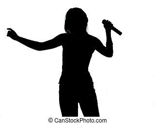 cantante, silueta