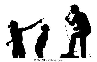 Cantante y fans