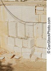 Cantera de mármol blanco
