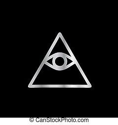 Cao dai ojo de la providencia-religión