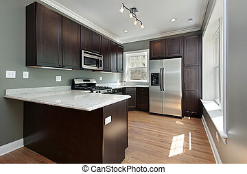 caoba, madera, cabinetry, cocina