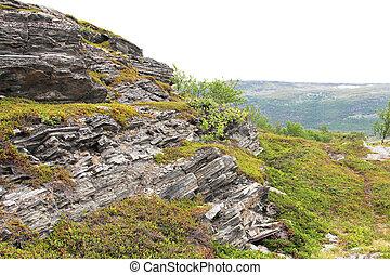 capas, geológico, roca