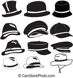 Capas y sombreros