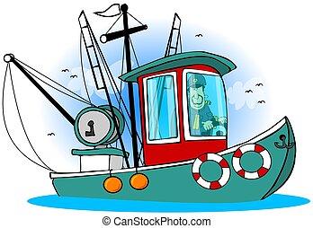 capitán, el suyo, barco