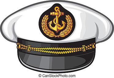 capitán, sombrero