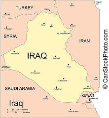 capita, ciudades, irak, circundante, mayor, países