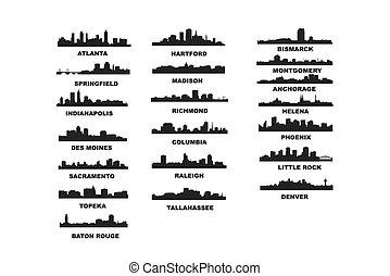 Capitales de EE.UU