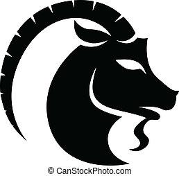 capricornio, negro, zodíaco, signo estrella