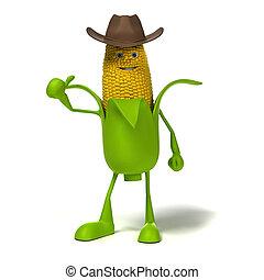 carácter, alimento, mazorca de maíz