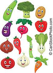 carácter, caricatura, vegetal, lindo