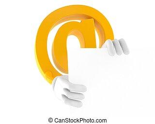 carácter, e-mail