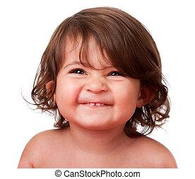 Cara de bebé feliz
