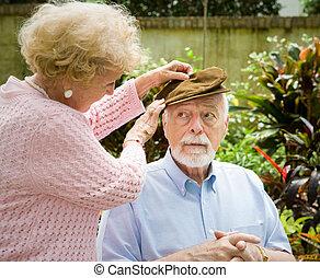 Cara de enfermedad de Alzheimer