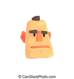 Cara de hombre con dibujos animados de carácter mohawk ilustración vectorial