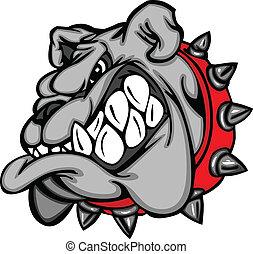 Cara de mascota de Bulldog