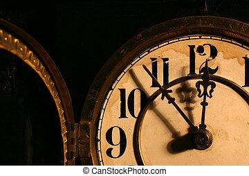Cara de reloj antiguo