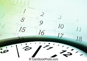 Cara de reloj y calendario