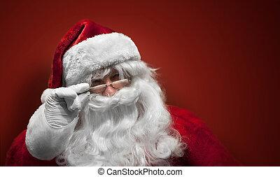 Cara sonriente de Santa Claus