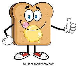 Característica de rebanadas de pan tostado