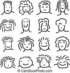 Caras de Doodle